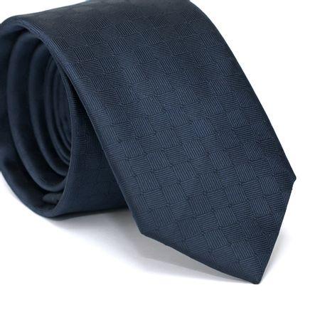 Gravata-Slim-em-Poliester-Azul-Marinho-com-Desenhos-Geometricos
