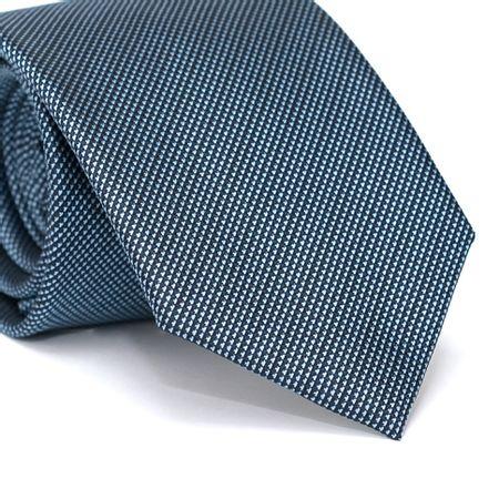 Gravata-Tradicional-em-Poliester-Azul-Marinho-com-Micro-Detalhes-em-Azul-Claro