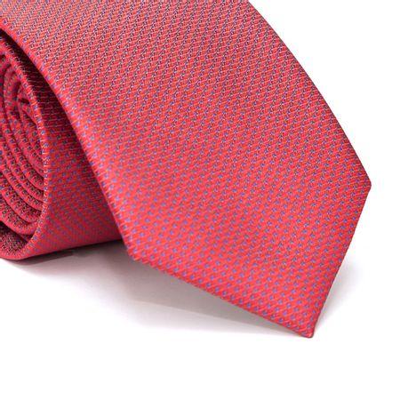 Gravata-Tradicional-em-Poliester-Vermelha-com-Poa-Azul-e-Detalhes-em-Branco