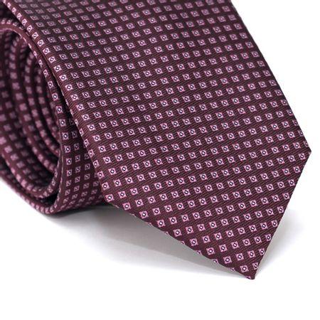 Gravata-Tradicional-em-Poliester-Roxa-com-Desenhos-Geometricos-Roxo-e-Detalhes-em-Branco