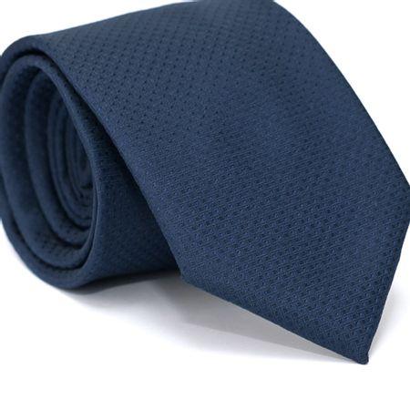 Gravata-Tradicional-em-Poliester-Azul-Marinho-com-Desenhos-Geometricos-e-Detalhes-na-Trama