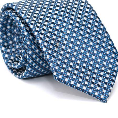 Gravata-Tradicional-em-Poliester-Azul-Marinho-com-Quadriculado-Azul-e-Branco-e-Detalhes-em-Azul-e-Branco