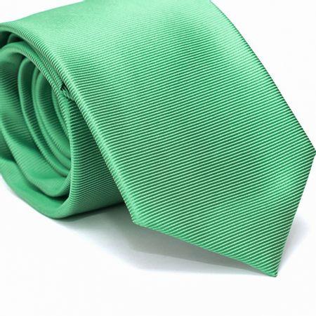 Gravata-Tradicional-em-Poliester-Verde-com-Detalhes-em-Branco-na-Trama