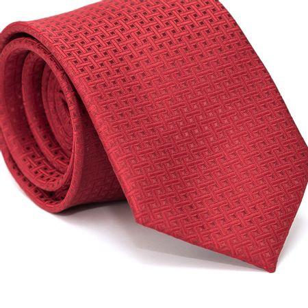 Gravata-Tradicional-em-Poliester-Vermelha-com-Desenho-Geometricos