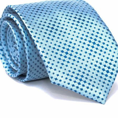 Gravata-Tradicional-em-Poliester-Azul-Claro-com-Desenhos-Geometricos-em-Azul-Celeste