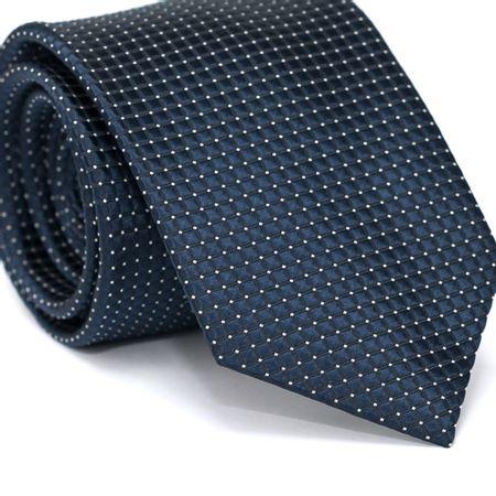 Gravata-Tradicional-em-Poliester-Azul-Marinho-com-Quadriculado-Preto-e-Detalhes-em-Branco