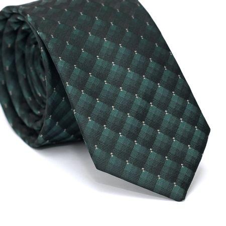 Gravata-Slim-em-Poliester-Verde-com-Degrade-Preto-e-Detalhes-em-Branco