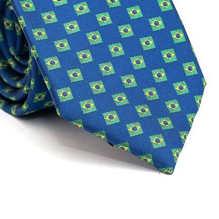 Gravata-Tradicional-em-Poliester-Azul-com-Bandeira-do-Brasil