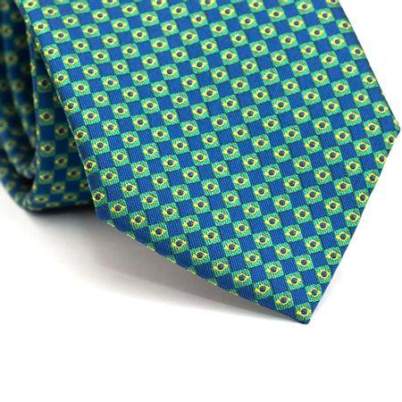 Gravata-Tradicional-em-Poliester-Azul-com-Micro-Bandeiras-do-Brasil