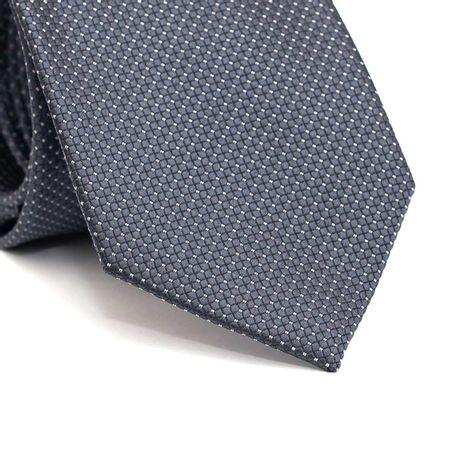 Gravata-Tradicional-em-Poliester-Cinza-Chumbo-com-Quadriculado-e-Detalhes-em-Branco