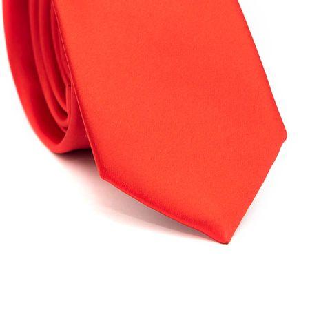 Gravata-Slim-em-Poliester-Lisa-Vermelha