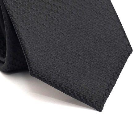 Gravata-tradicional-em-poliester-falso-liso-preta-com-desenho-geometrico