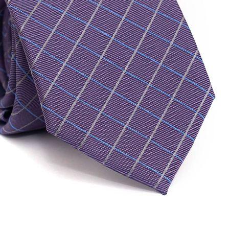 Gravata-tradicional-em-poliester-roxa-com-listras-azul-e-cinza