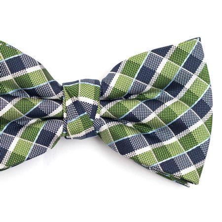 Gravata-borboleta-em-poliester-xadrez-verde-e-azul-com-detalhes-em-branco-e-azul