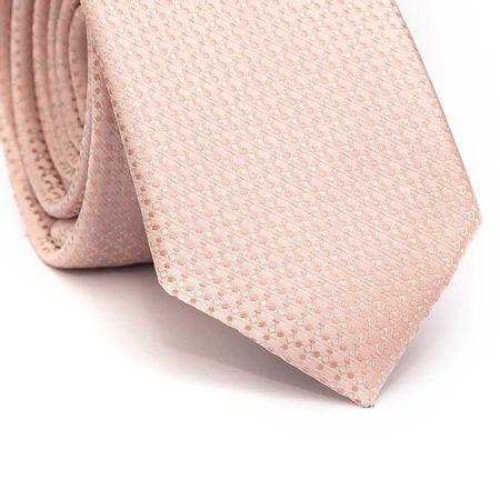 Gravata-slim-em-poliester-rosa-clara-com-detalhes-em-branco-e-rosa