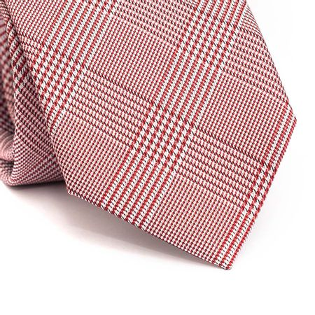 Gravata-tradicional-em-poliester-xadrez-vermelha-preta-e-branca