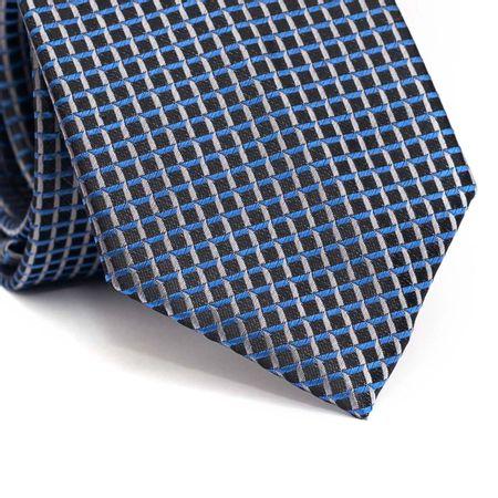 Gravata-tradicional-em-poliester-preta-com-quadriculado-azul-e-cinza