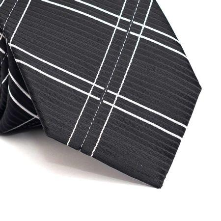 Gravata-tradicional-em-poliester-preta-com-riscas-branco-e-preto
