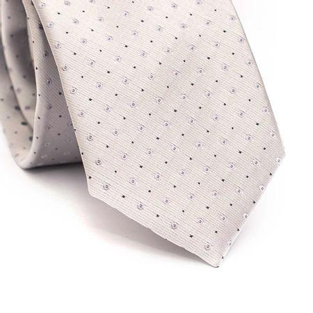 Gravata-slim-em-poliester-cinza-com-detalhes-geometricos-cinza-e-preto