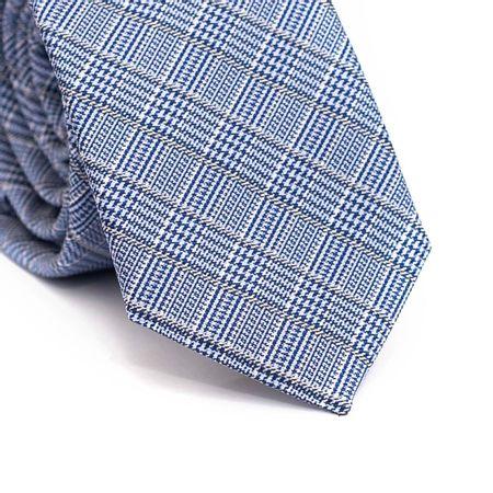 Gravata-slim-em-poliester-xadrez-azul-cinza-e-branco