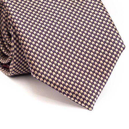 Gravata-tradicional-em-poliester-com-desenho-geometrico-roxo-e-bege