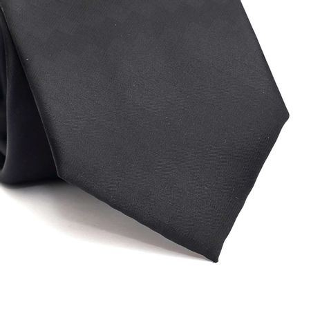 Gravata-tradicional-em-poliester-quadriculada-em-tons-de-cinza