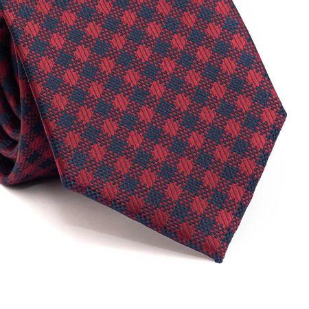 Gravata-tradicional-em-poliester-xadrez-vinho-com-azul-marinho
