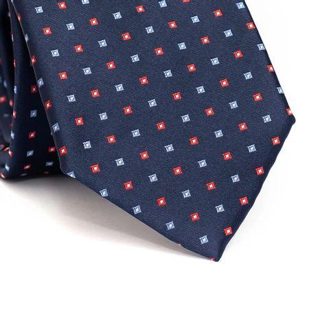 Gravata-tradicional-em-poliester-marinho-com-quadriculado-azul-claro-e-vermelho-e-detalhes-branco