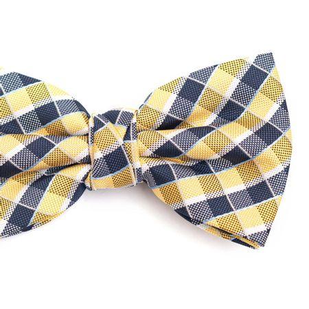 Gravata-borboleta-em-poliester-xadrez-amarela-e-azul-marinho-com-detalhes-em-branco-e-azul