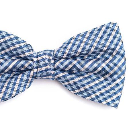 Gravata-borboleta-em-poliester-xadrez-branco-e-azul-claro-com-detalhes-cinza