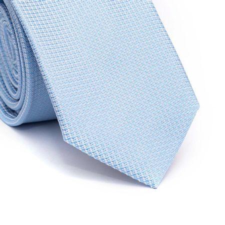 Gravata-slim-em-poliester-azul-claro-com-detalhes-branco-na-trama