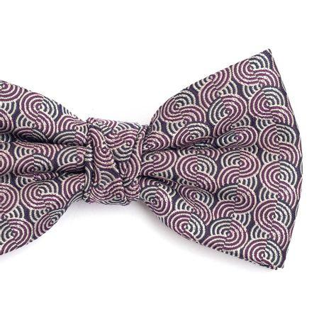 Gravata-borboleta-em-poliester-cinza-chumbo-com-desenhos-geometrico-roxo-e-cinza-claro