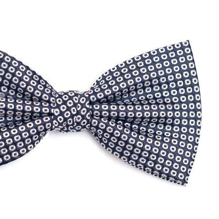 Gravata-borboleta-em-poliester-azul-marinho-com-circulos-em-cinza-claro