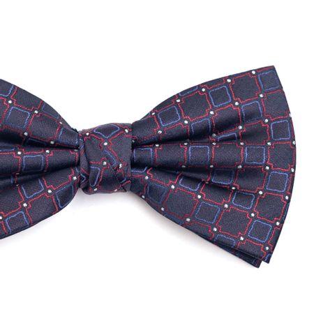 Gravata-borboleta-em-poliester-azul-marinho-com-desenho-geometrico-azul-e-vermelho-com-detalhe-em-branco
