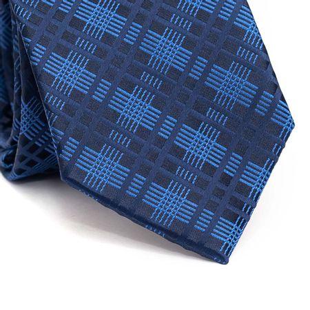 Gravata-tradicional-em-poliester-xadrez-em-tons-de-azul