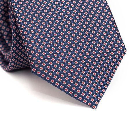 Gravata-tradicional-em-poliester-azul-marinho-com-detalhes-na-trama-em-azul-vermelho-e-branco