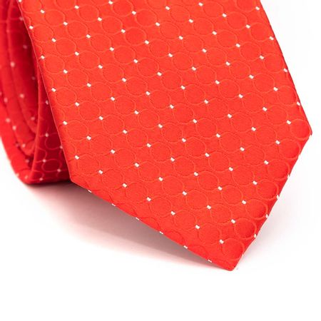 Gravata-tracional-em-poliester-vermelha-com-circulos-e-detalhe-em-branco