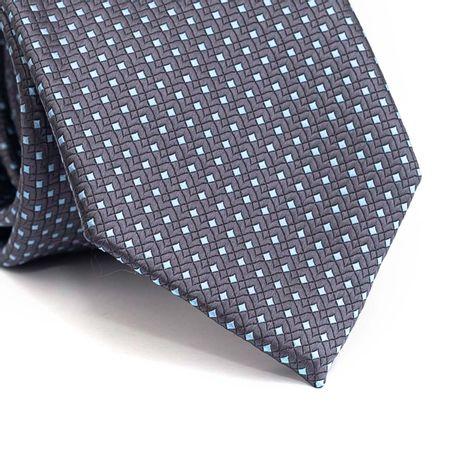 Gravata-tradicional-em-poliester-cinza-chumbo-com-detalhes-na-trama-e-quadriculado-azul