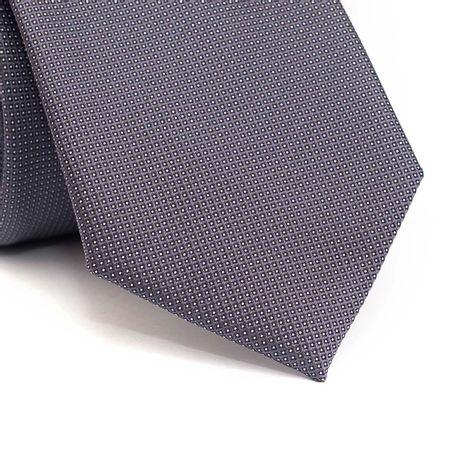 Gravata-tradicional-cinza-chumbo-com-quadriculado-preto-com-poa-branco