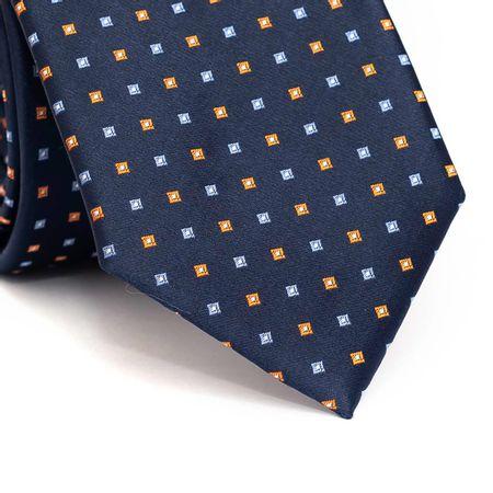 Gravata-tradicional-em-poliester-azul-marinho-com-quadriculado-laranja-e-azul