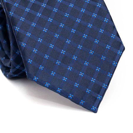 Gravata-tradicional-em-poliester-xadrez-azul-com-detalhes-em-floral
