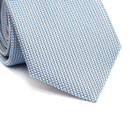 Gravata-tradicional-furta-cor-em-poliester-azul-celeste-e-branco-com-zig-zag-preto
