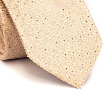 Gravata-tradicional-em-poliester-amarelo-com-desenho-geometrico-e-ponto-azul