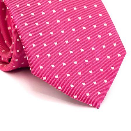 Gravata-tradicional-em-poliester-rosa-com-quadriculado-branco