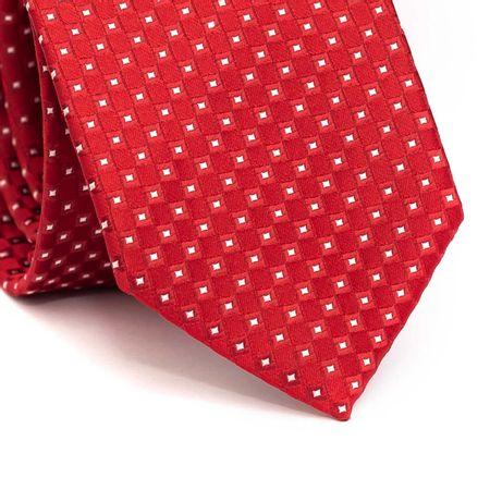 Gravata-tradicional-em-poliester-vermelha-com-quadriculado-branco-e-vermelho