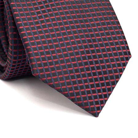 Gravata-tradicional-em-poliester-preta-com-quadriculado-em-vinho-e-azul