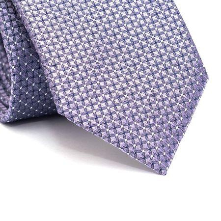Gravata-tradicional-em-poliester-roxa-quadriculada-com-pontos-em-branco-e-azul