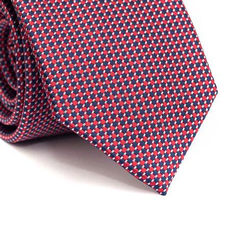 Gravata-tradicional-em-poliester-com-desenho-geometrico-azul-vermelho-e-branco