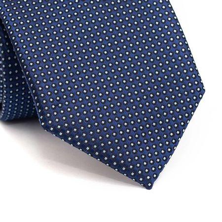 Gravata-tradicional-em-poliester-azul-marinho-com-circulos-preto-e-branco