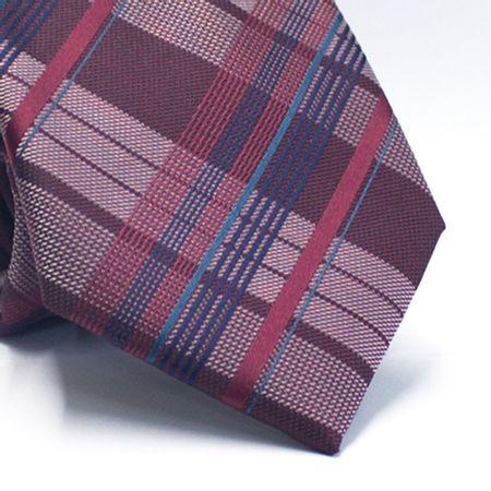 Gravata-tradicional-em-poliester-xadrez-vinho-branco-e-tons-de-azul